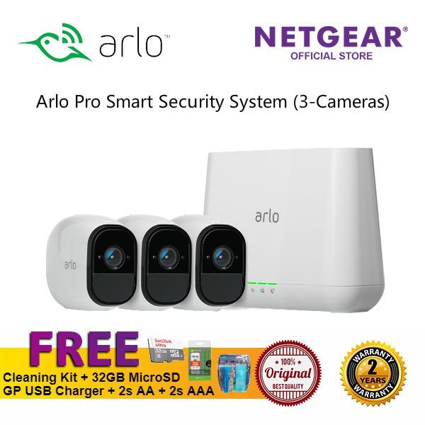 NETGEAR Arlo Pro Smart Security System (3 Cameras) VMS4330