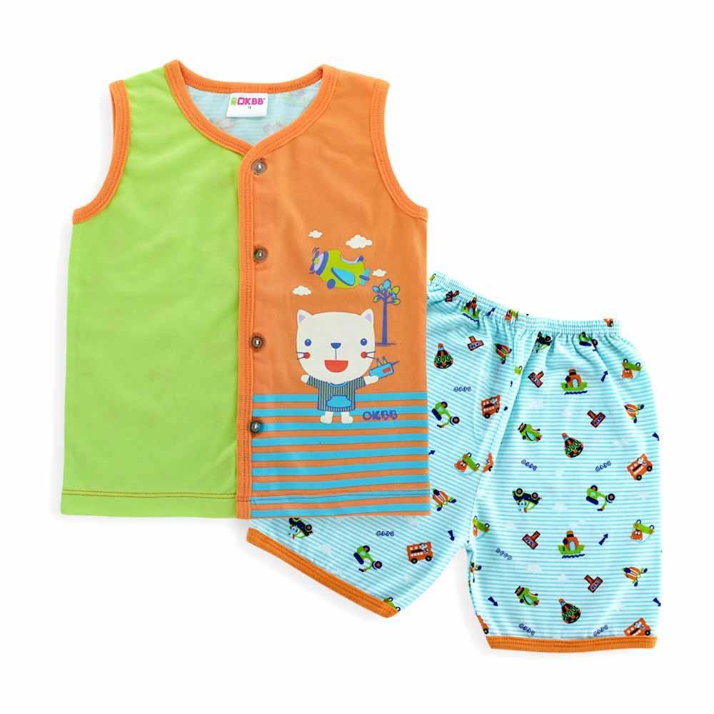 2c325380cd1a4 OKBB Baby Boy Suit Front Open Vest and Short Pants K1593_BL_BF139