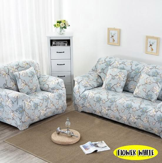 FLOWERY SOFA COVER - SINGLE