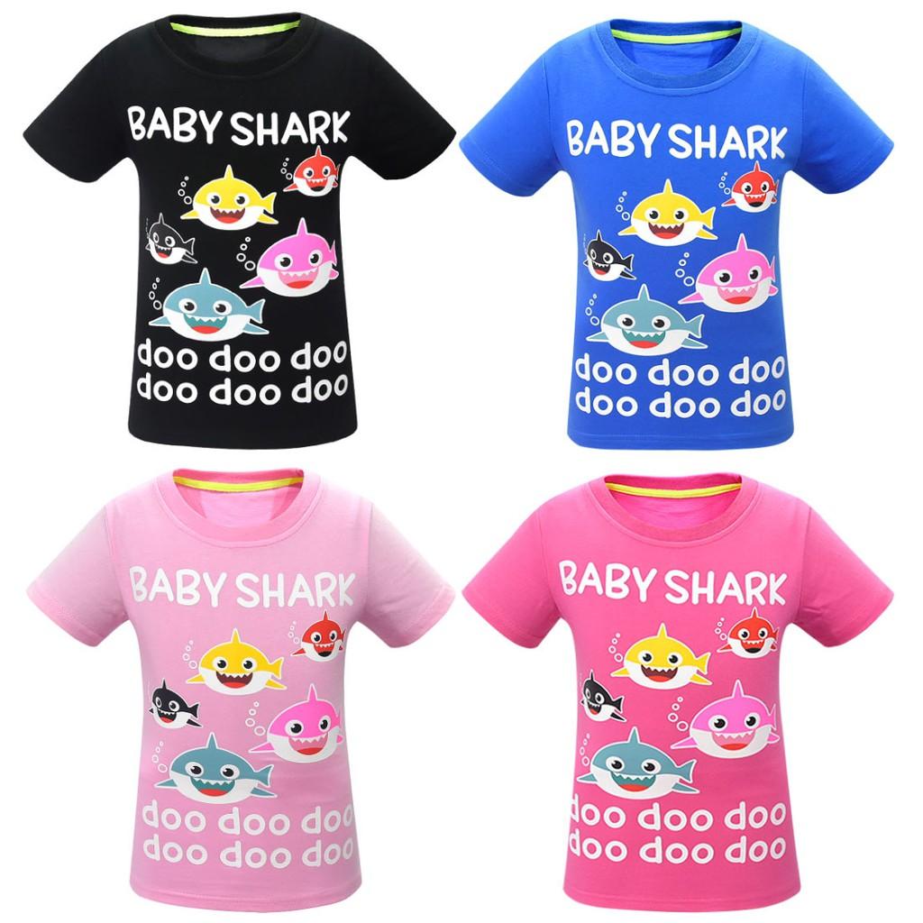 Summer Christmas Shirt Baby Shark T Shirt For Children Cotton 3d