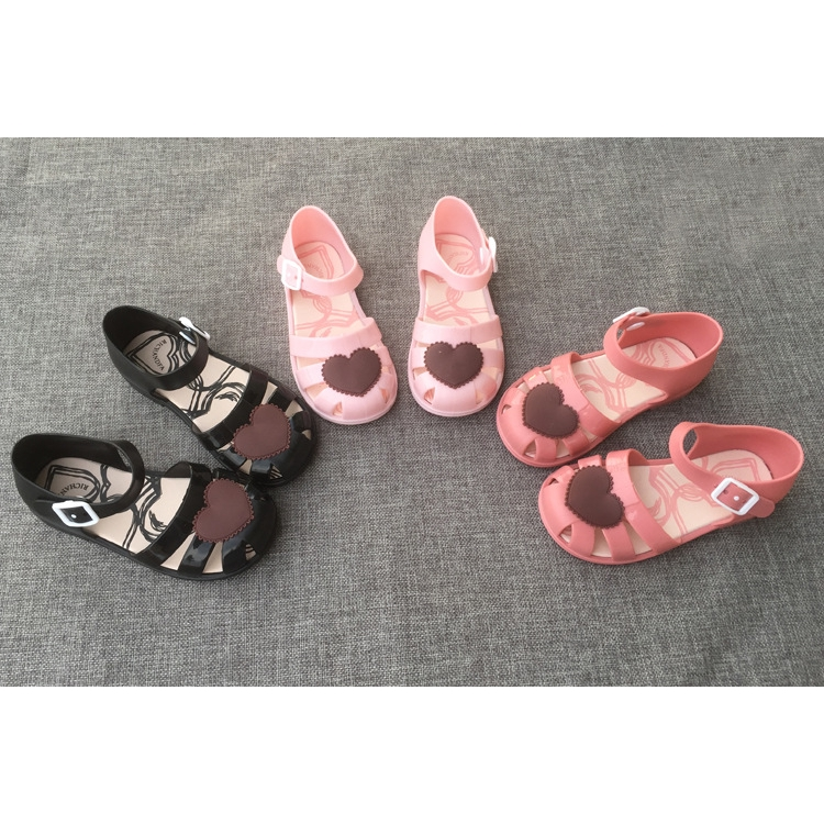 a619675eb5 Jelly Girls Sandals Slippers Children Non-Skid Sweet Hearts Princess Shoes