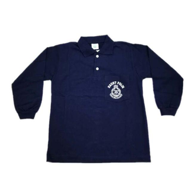 T Shirt Uniform Kadet Bomba Lengan Panjang Baju Tshirt Kokurikulum