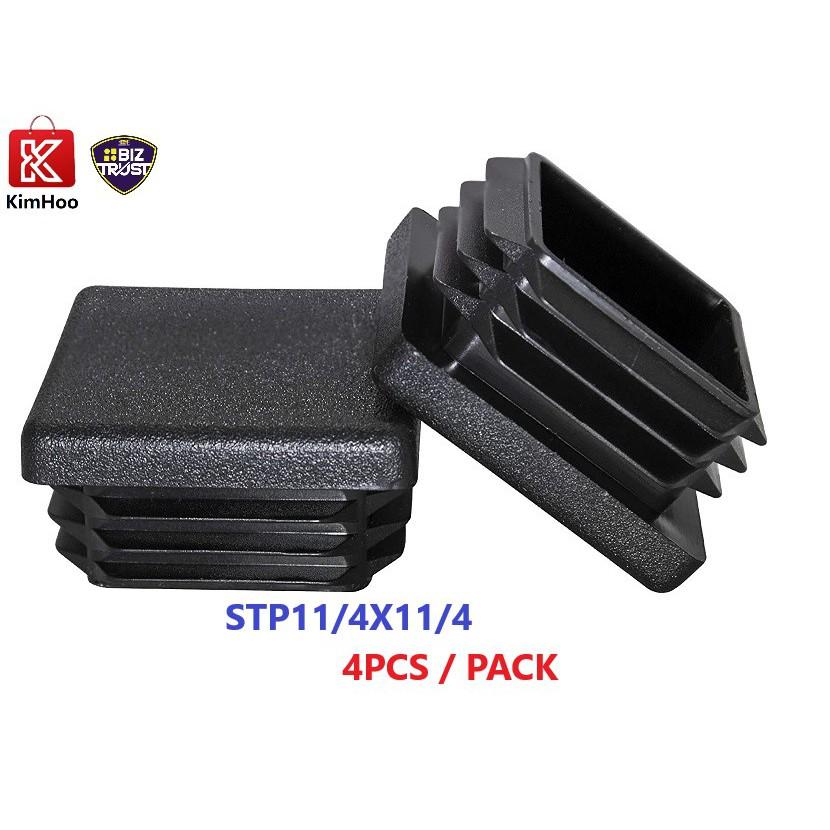 "Heavy Duty 1-1/4"" Square Plastic Plug, Tubing Post End Cap, Chair Glide"