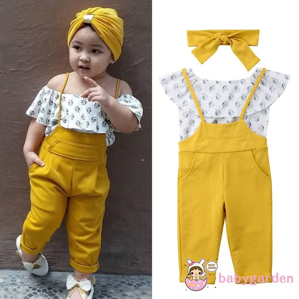 e9c2559a96f685 ProductImage. ProductImage. YBA-Toddler Baby Girl Kids Off Shoulder Tops+Long  Leggings