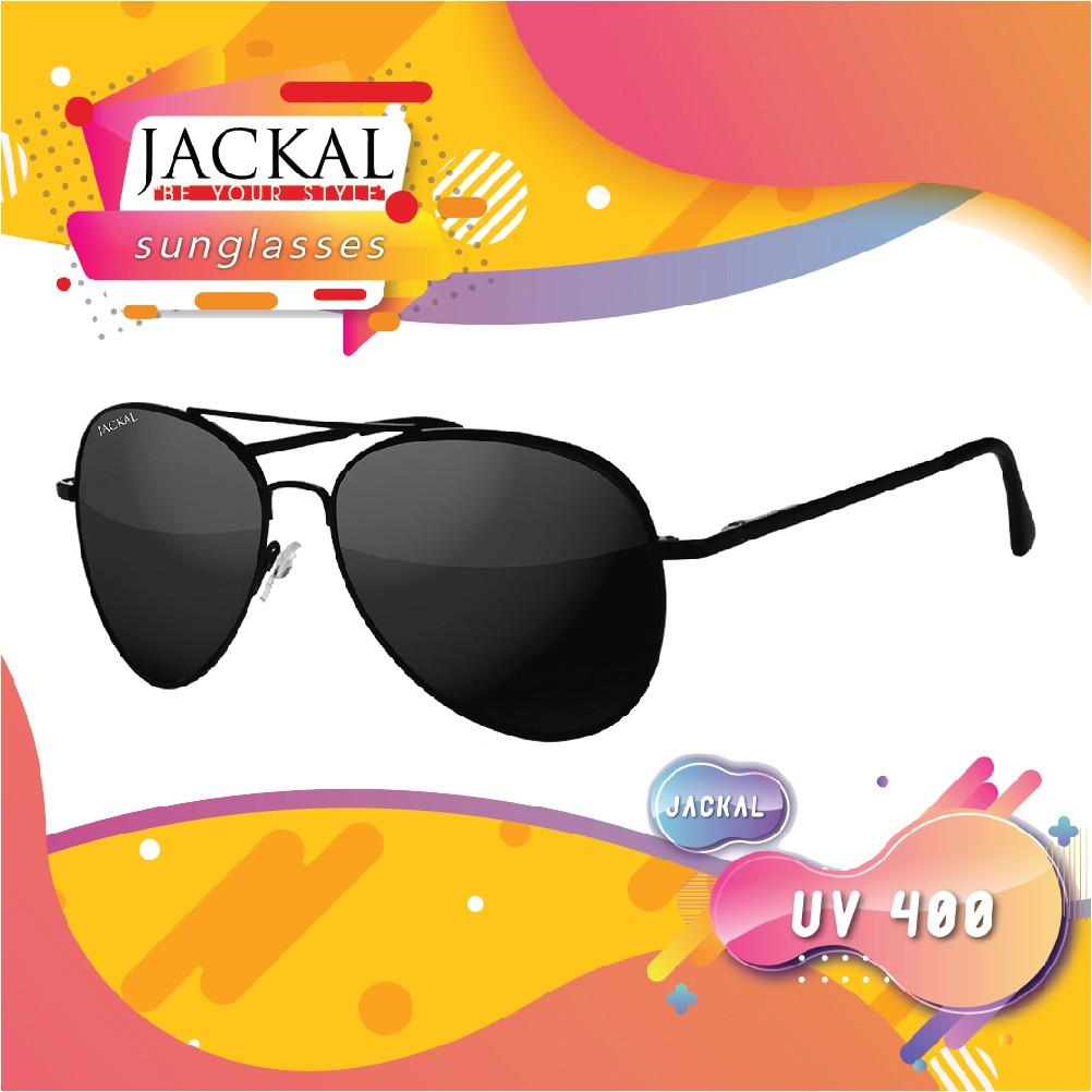 JACKAL SUNGLASSES แว่นตากันแดด รุ่น SHIPMASTER JS029 สีดำ (ฟรี! ผ้าเช็ดแว่นและกล่อง