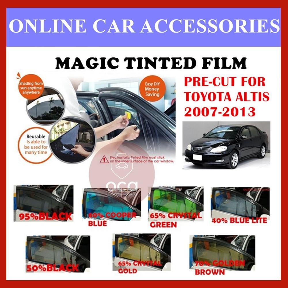 Toyota Altis 2007-2013  - Pre-Cut Shape Magic Tinted Solar Tinted (4 Windows & 2 Triangle /4 Windows+Rear)
