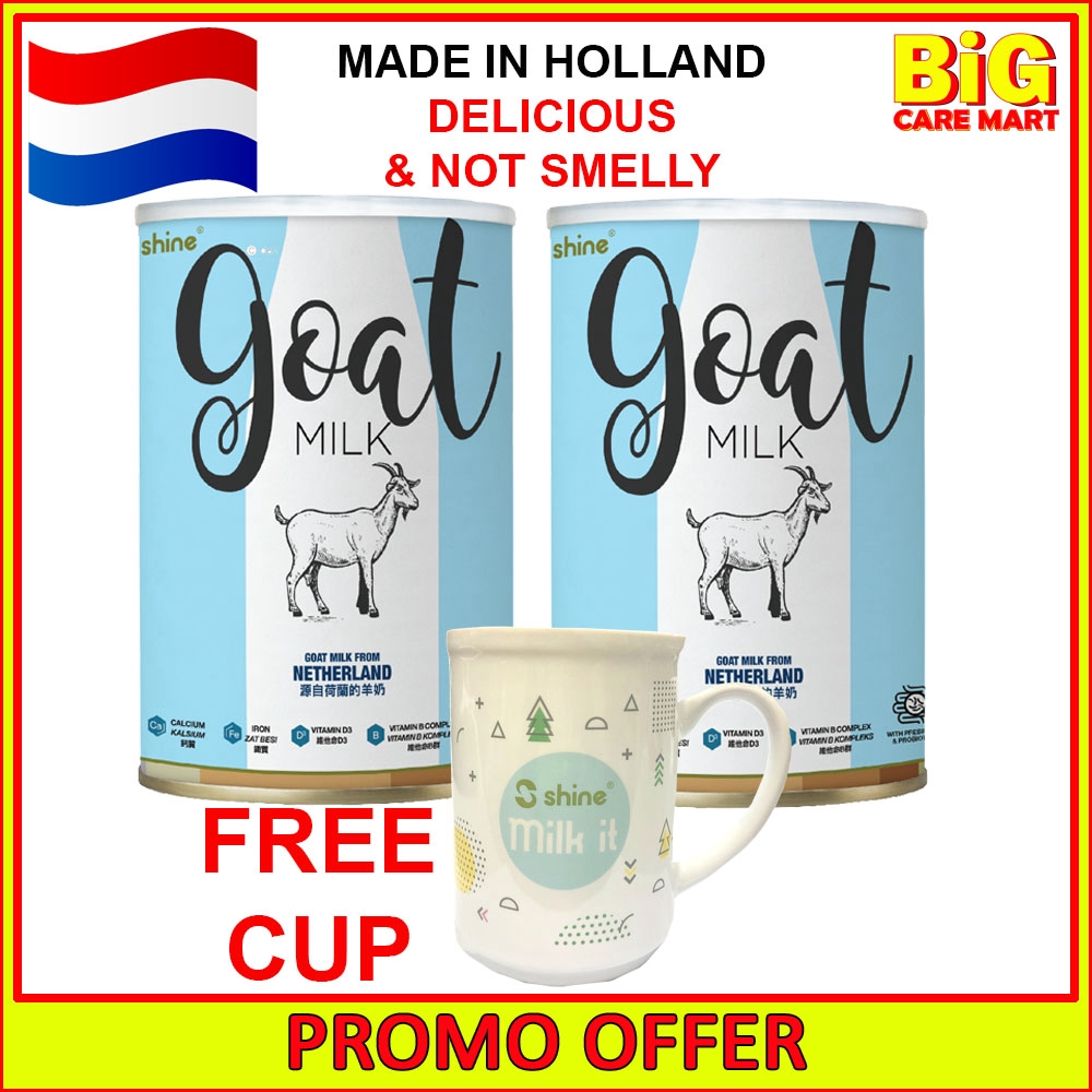 Shine Goat Milk 400g (1 Year & Above) X 2tins + FREE CUP