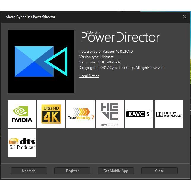 DVD Cyberlink Power Director 16 Ultimate (Pirate)