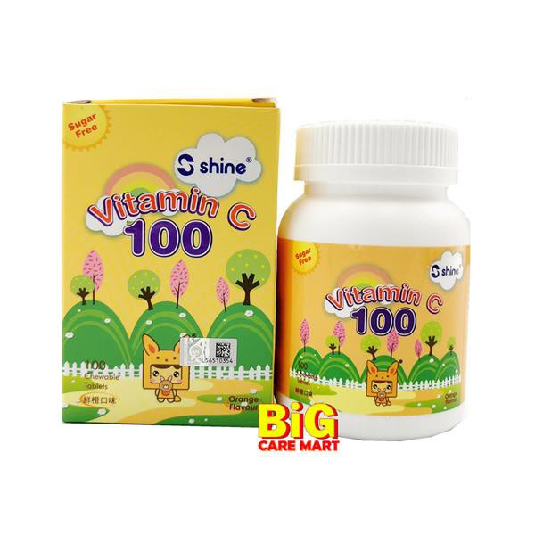 Shine Vitamin C 100mg Orange Chewable 100