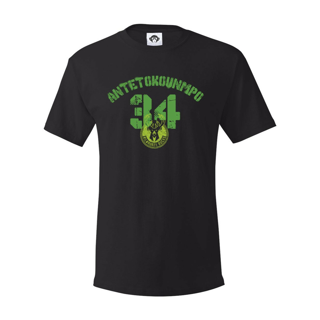 Giannis Antetokounmpo Milwaukee Bucks T-Shirt Basketball Men/'s Tee Shirt Short
