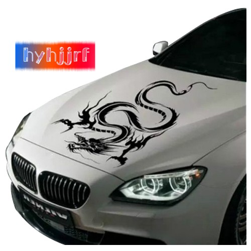 Silver 3D Chinese Dragon Totem Car Sticker Emblem Decal Motorbike Labeling Truck