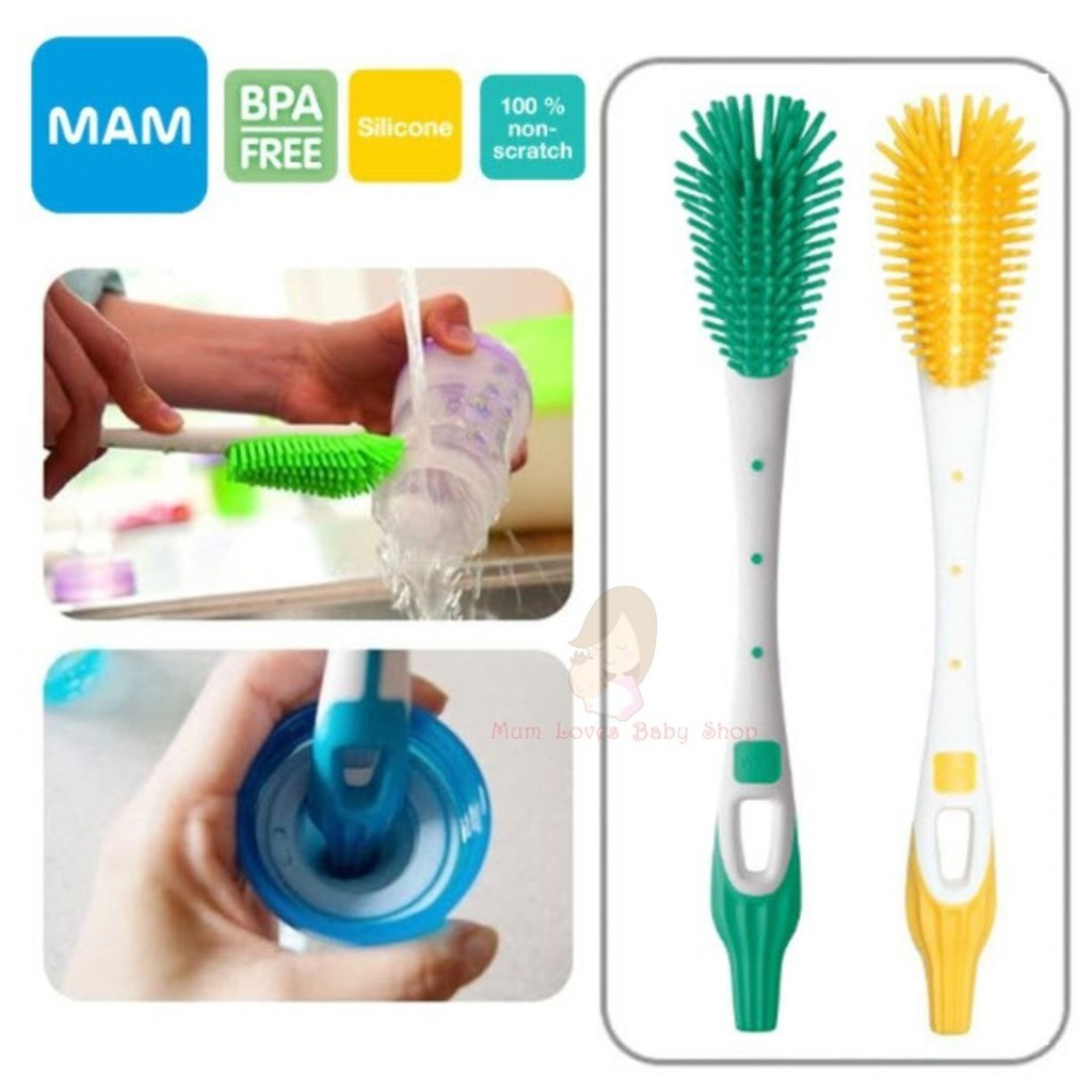 MAM Soft Bottle Brush With 100/% Non Scratch Bristles Free Delivery Brand New