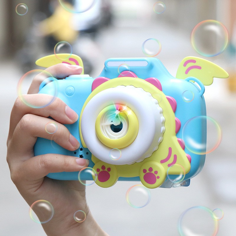 [ READY STOCK ]  Magic Music Camera Bubble Toy Cute Bubble Blower Machine Kid Mainan Budak Jualan Murah Pretend Play Baby
