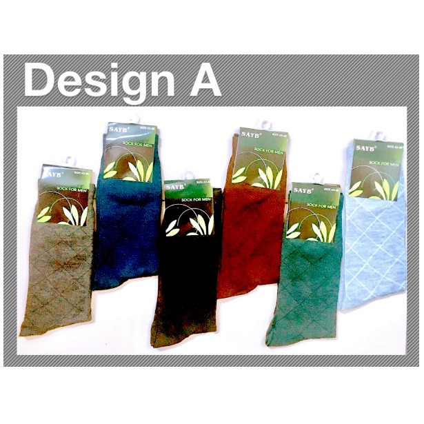 Men's Business Breathable Thermal Cotton Classic Blended Casual Sport Socks Lines Design