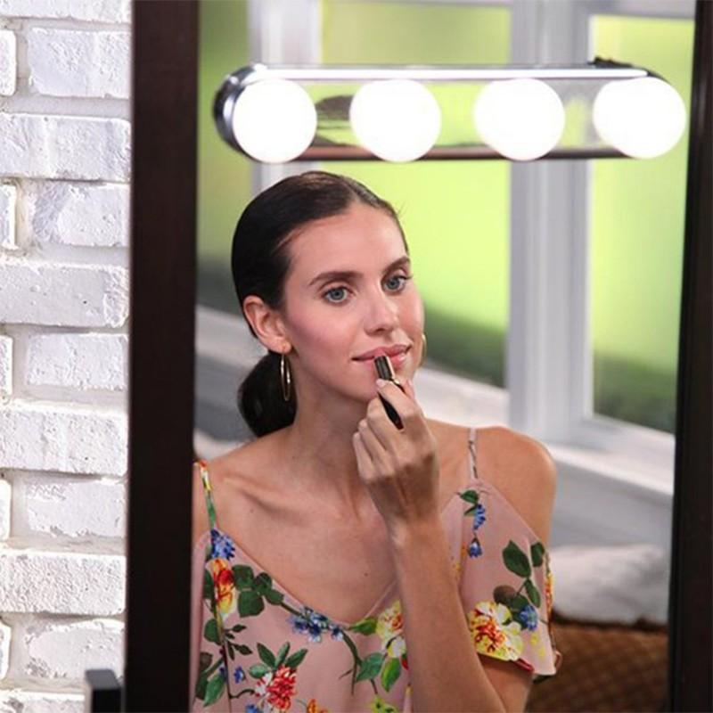 Hot 4pcs Led Makeup Mirror Light Bulb, What Bulbs For Makeup Mirror