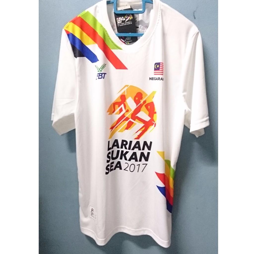 Sukan Sea Kl 2017 Sea Games Larian Sukan Sea T Shirt Fbt Shopee