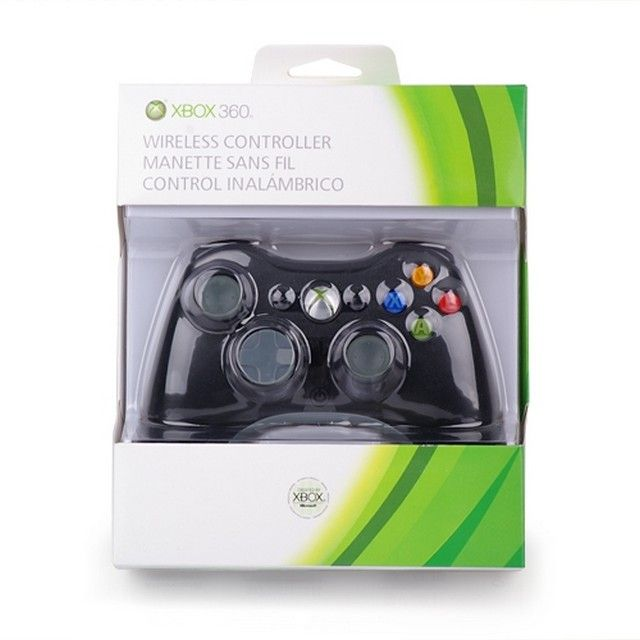 (Original) Xbox 360 Wireless Controller - Glossy Black + Receiver