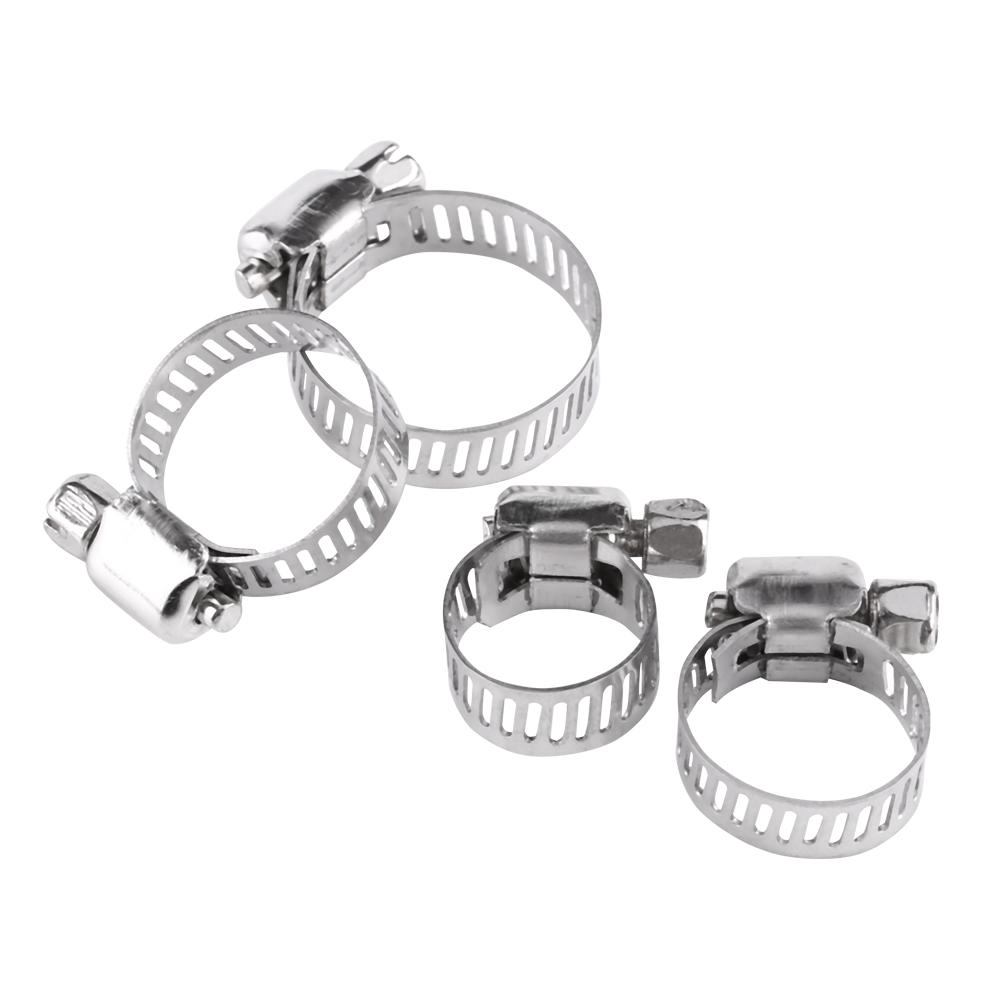 Water Pipes 10mm-16mm 10pcs Hose Clamps 304 Stainless Steel Adjustable Various Size Worm Gear Hose Clamps Assortment Kit for Connecting Air Hoses Fuel Hoses on Automobiles Or Factory