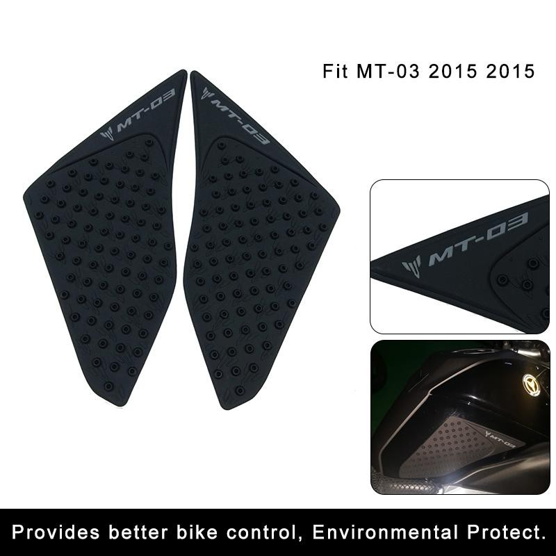 100% True 3m Anti Slip Sticker Motorcycle Tank Traction Sticker Pad Side Knee Grip Protector Rubber For Yamaha Mt03 Mt-03 Mt 03 Decals & Stickers