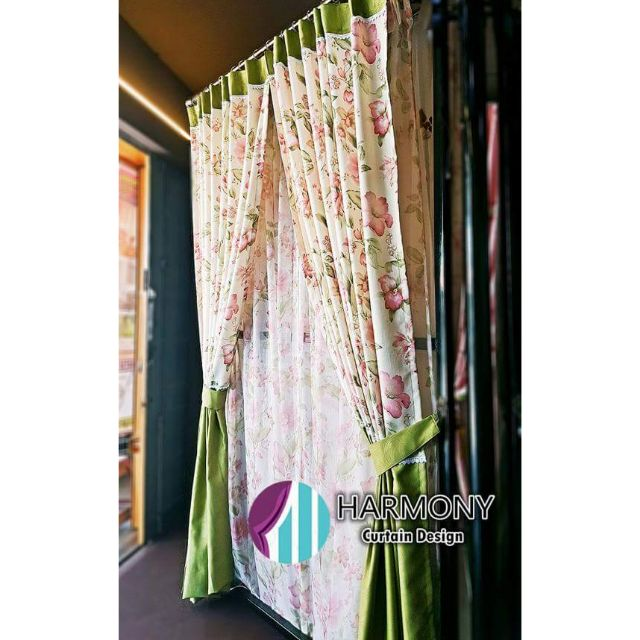 Curtain Langsir English Country Style Sliding Door Window Tingkap Sho Malaysia
