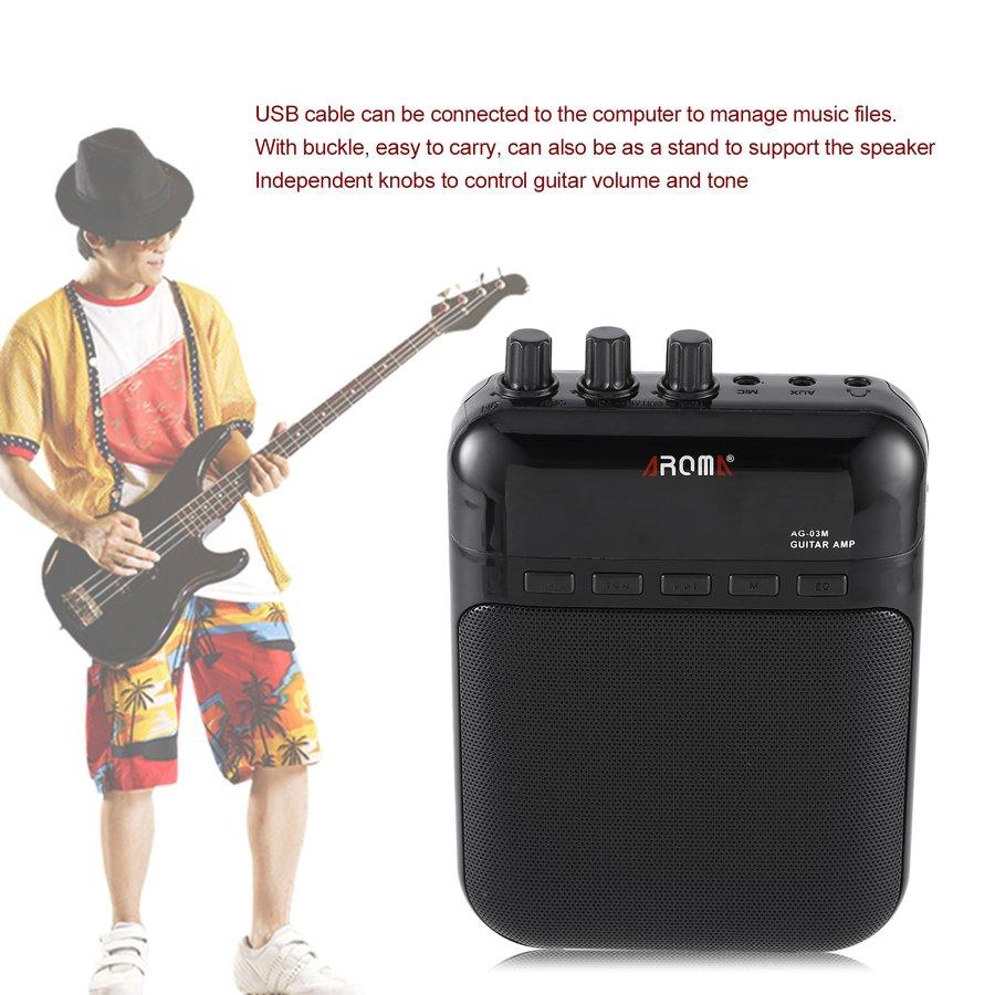 Portable Speakers Speakers Independent Mini 5 Watt 9v Battery Powered Amp Amplifier Speaker For Acoustic/ Electric Guitar Ukulele High-sensitivity