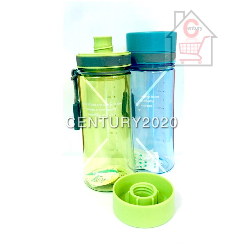 RIMEI Travel Bottle Sports Water Bottle Double Mouth Leak Proof With Strap And Filter Outdoor 500ml