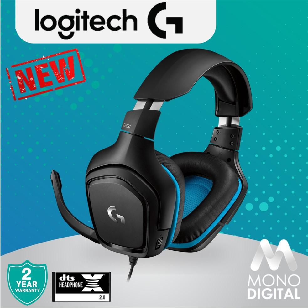 Logitech G431 7 1 Surround Sound Gaming Headset (981-000774)