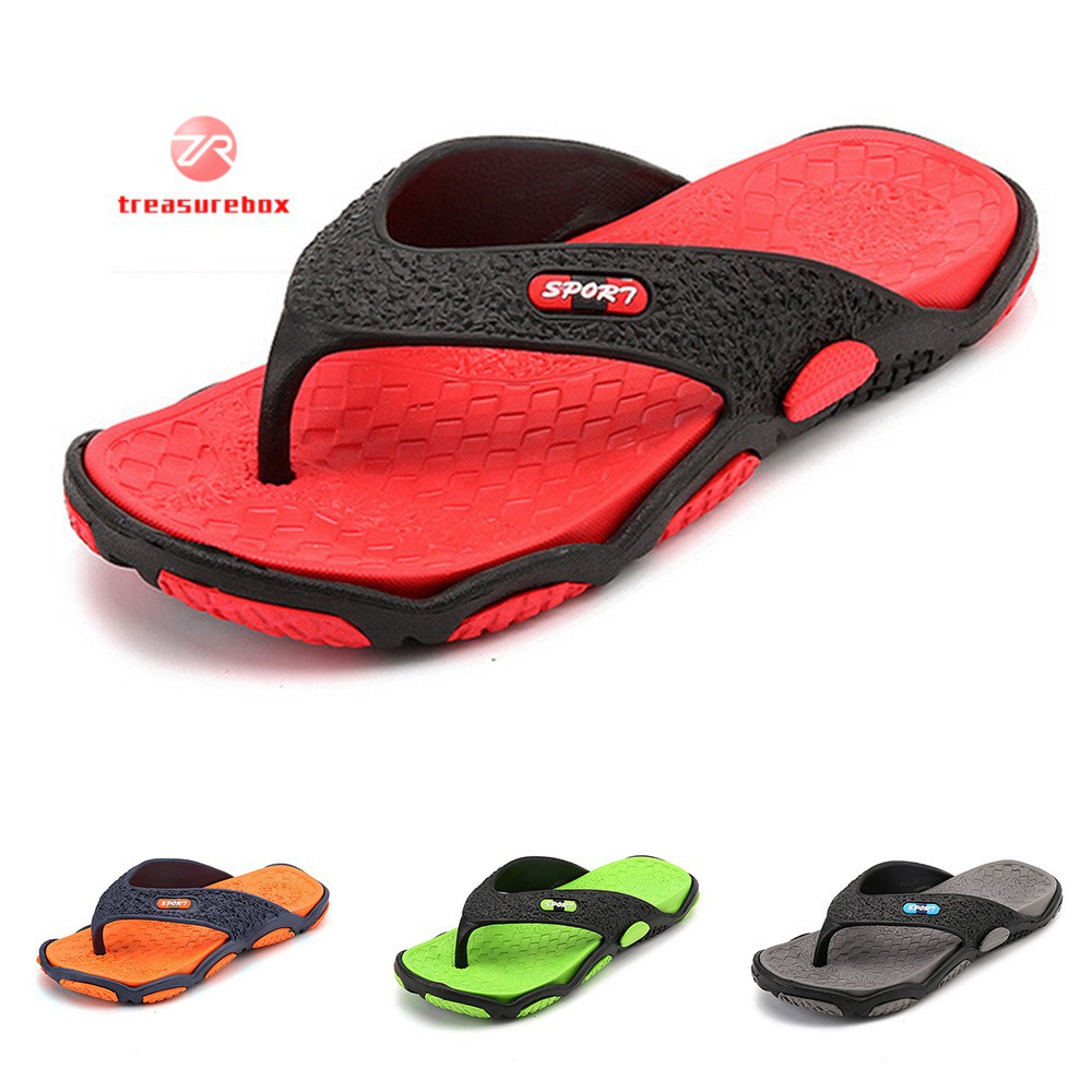 e301df108e288 Men Boy Beach Home Casual Massage Slippers  varitystore