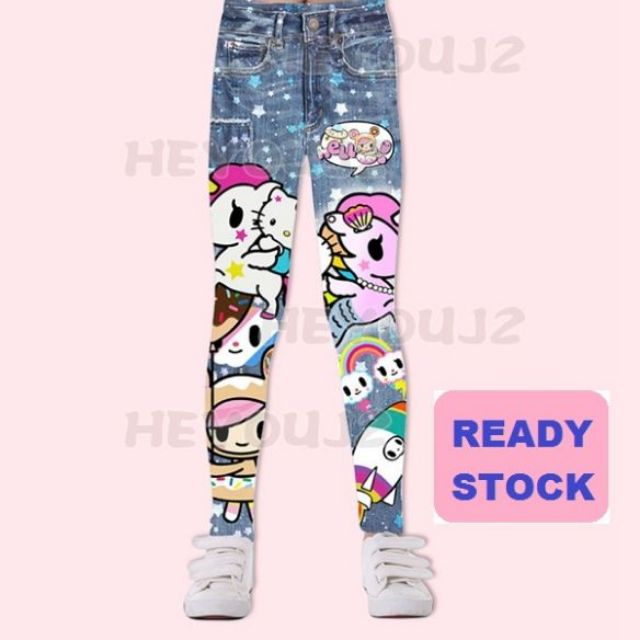 Disney Frozen Princess Elsa and Anna Ankle Length Leggings Tights Yoga Pants for Girl Age Group of 3-8 Years