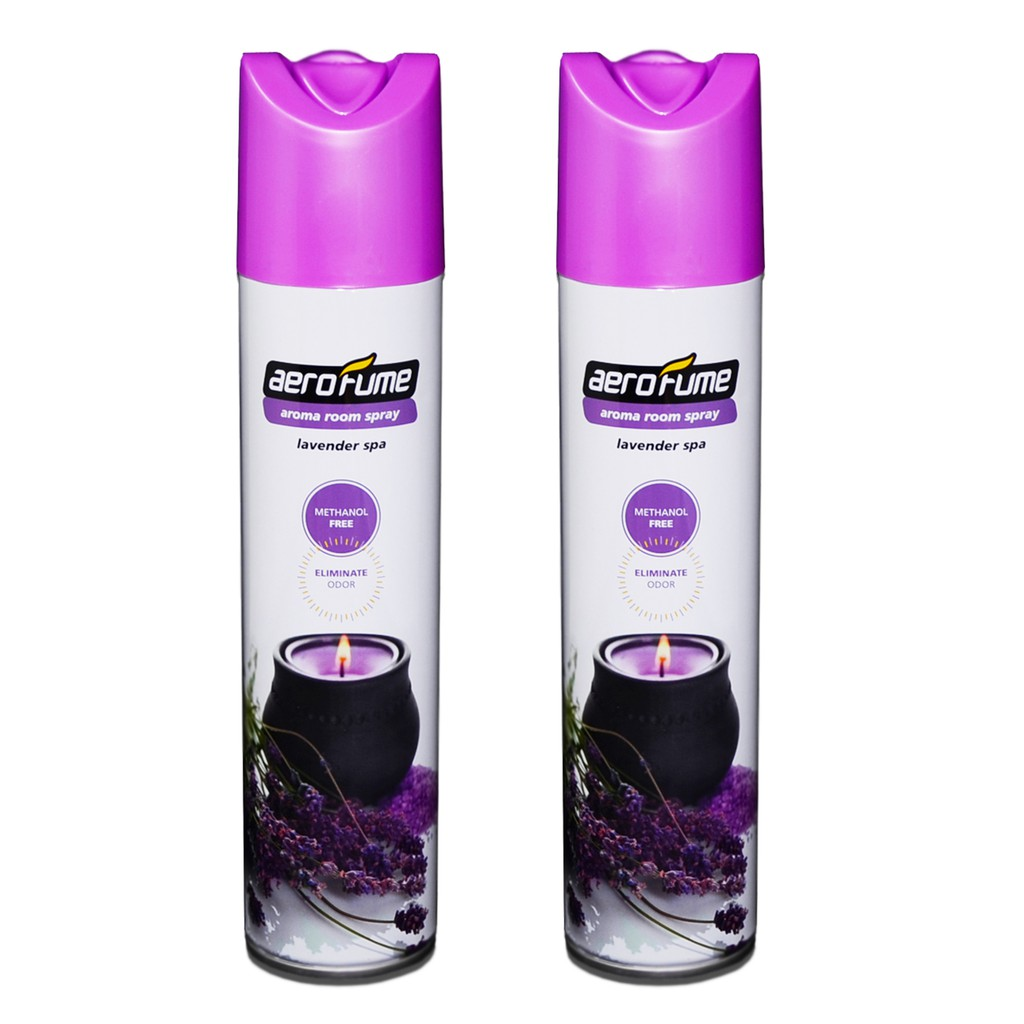 Lavender Spa Aroma Spray Air Freshener Twin Pack Aerofume (320ml x 2) Room Spray Perfume