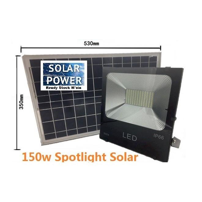 [ READY STOCK ]  150w Solar Super Bright Spotlight Waterproof Flood Light Pelita Lampu Raya Lamp Jualan Murah Street