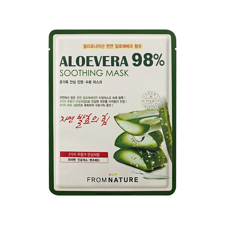 FROMNATURE Aloevera 98% Soothing Mask 10pcs