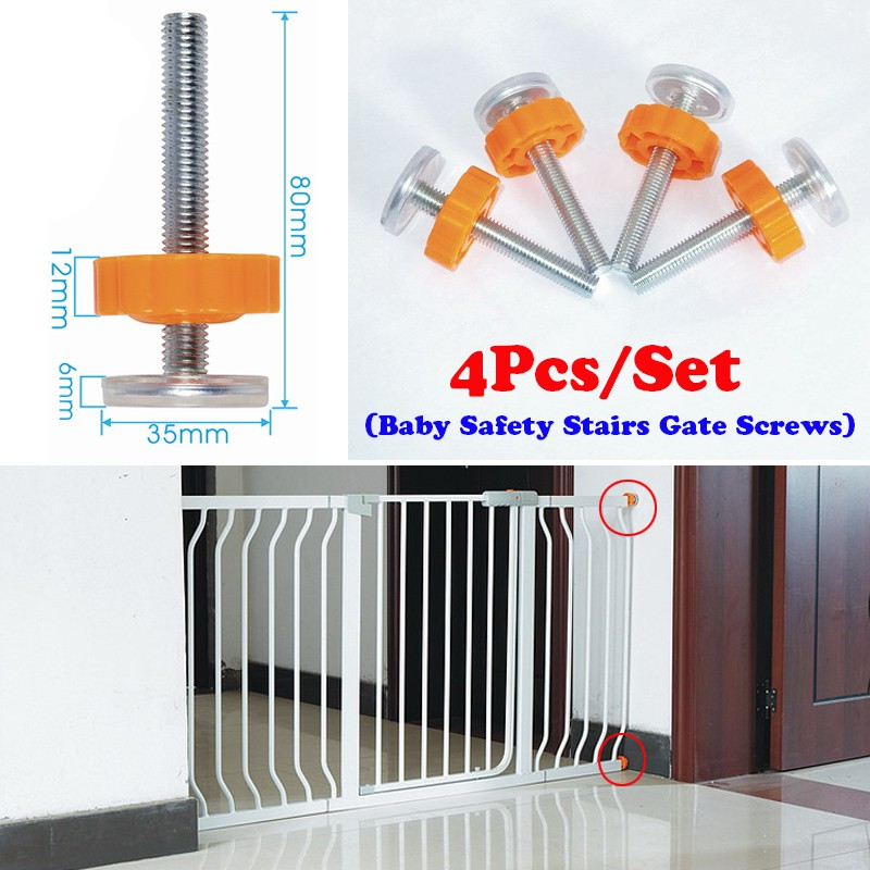 Baby Safety Stairs Gate Screws Bolts With Locking Nut Spare Part