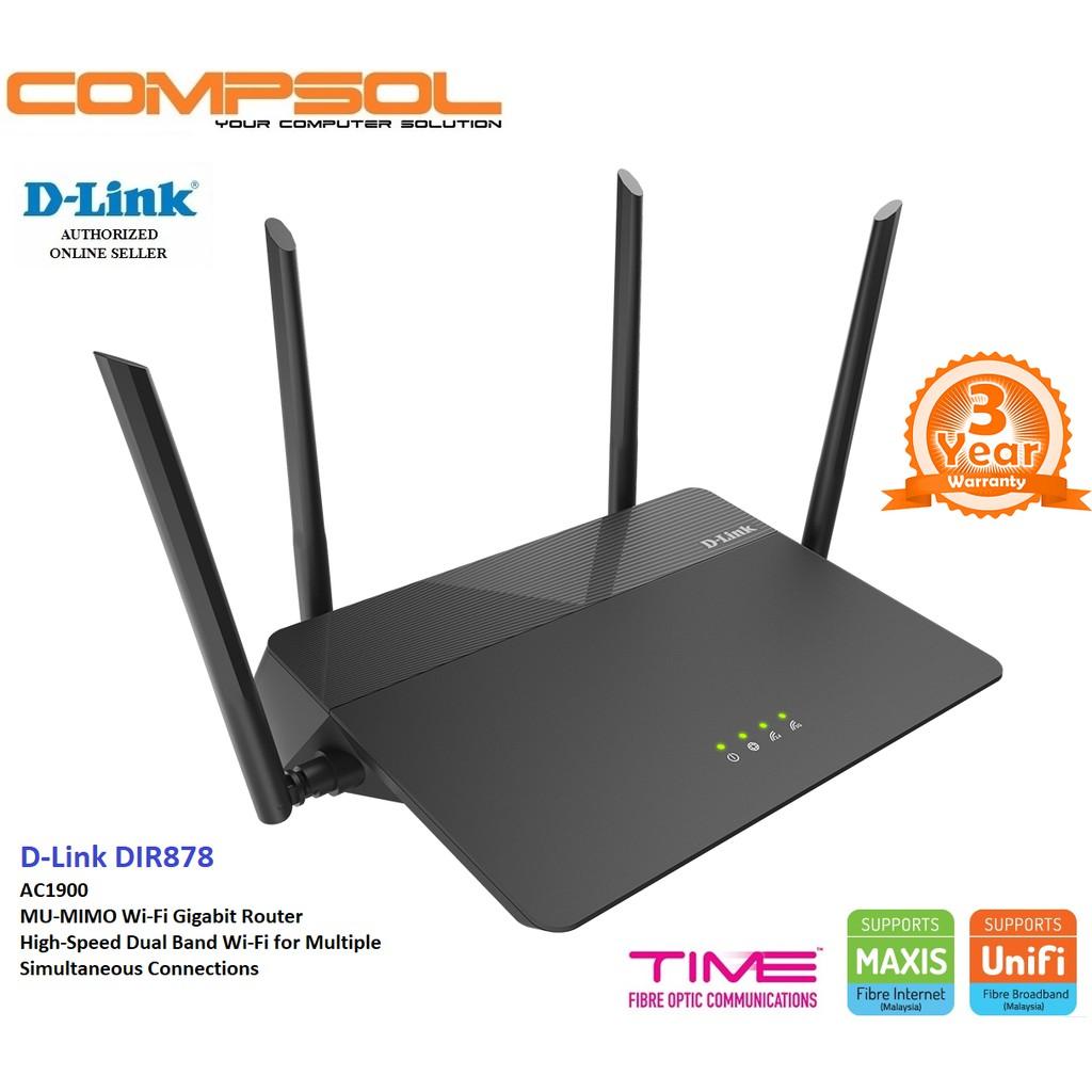 D-Link DIR-878 AC1900 MU-MIMO Wi-Fi Gigabit Router