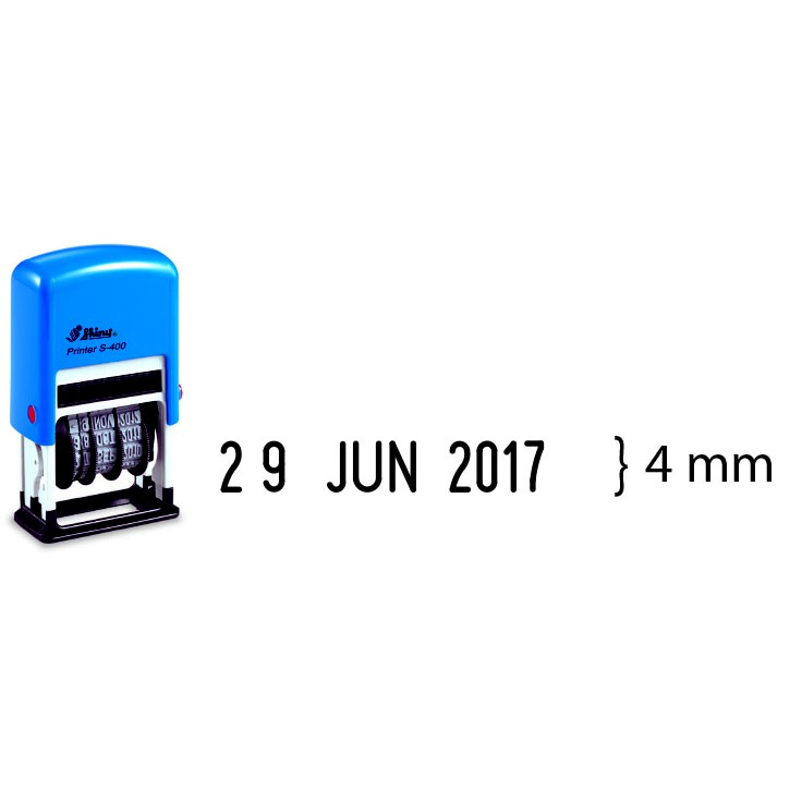 S-400 DATE STAMP / 4MM DATE STAMP / SHINY SELF INKING / SILVEREXPRESS / CHOP TARIKH / RUBBER STAMP