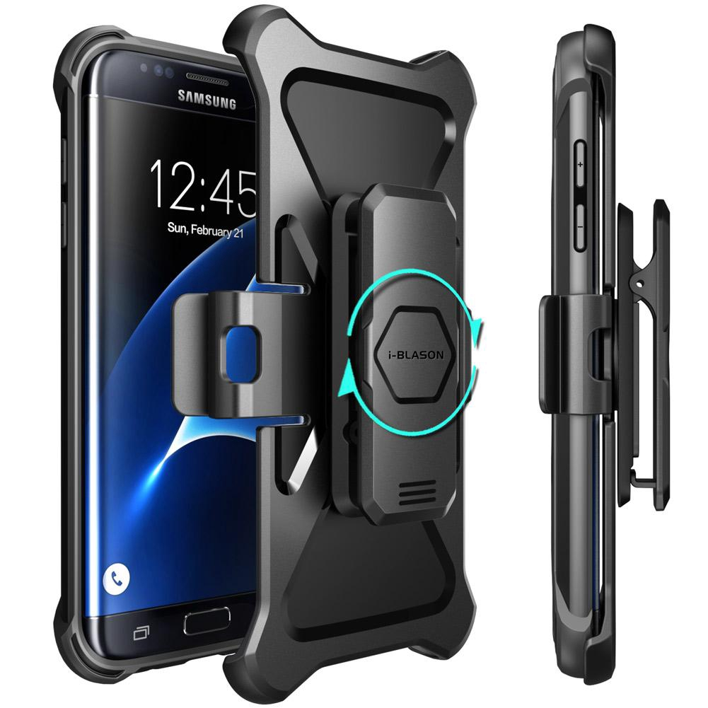 finest selection 04c88 a0853 Samsung Galaxy S7 Edge Case i-Blason Casing with Kickstand & Belt Swivel  Clip