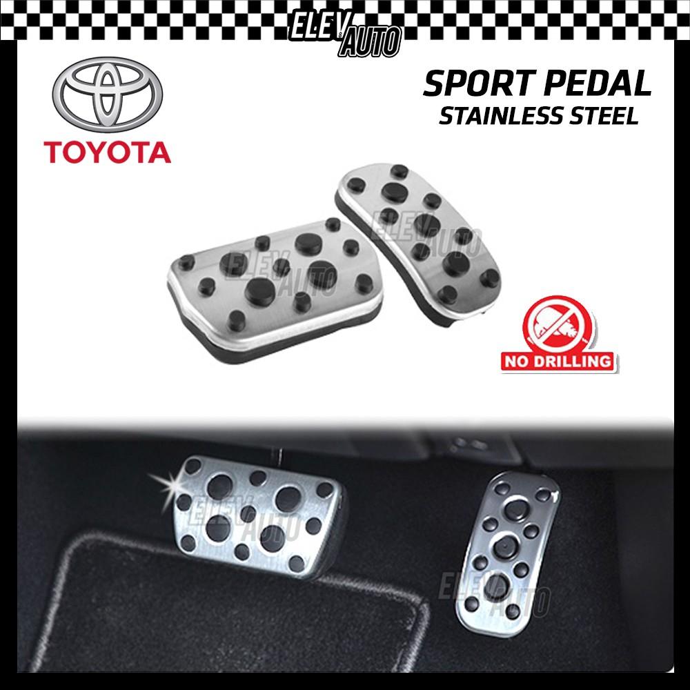 TOYOTA Series Sport Pedal Stainless Steel CHR C-HR SIENTA HILUX REVO FORTUNER INNOVA HARRIER