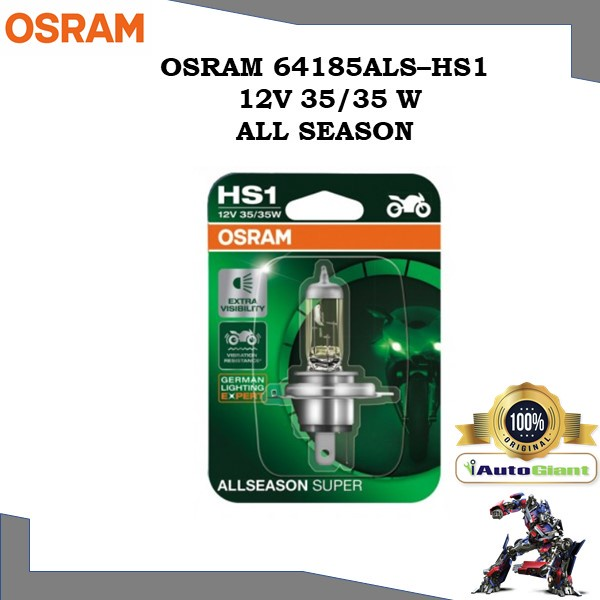 OSRAM 64185ALS - HS1 12V 35/35W ALL SEASON LAMPU DEPAN MOTOR