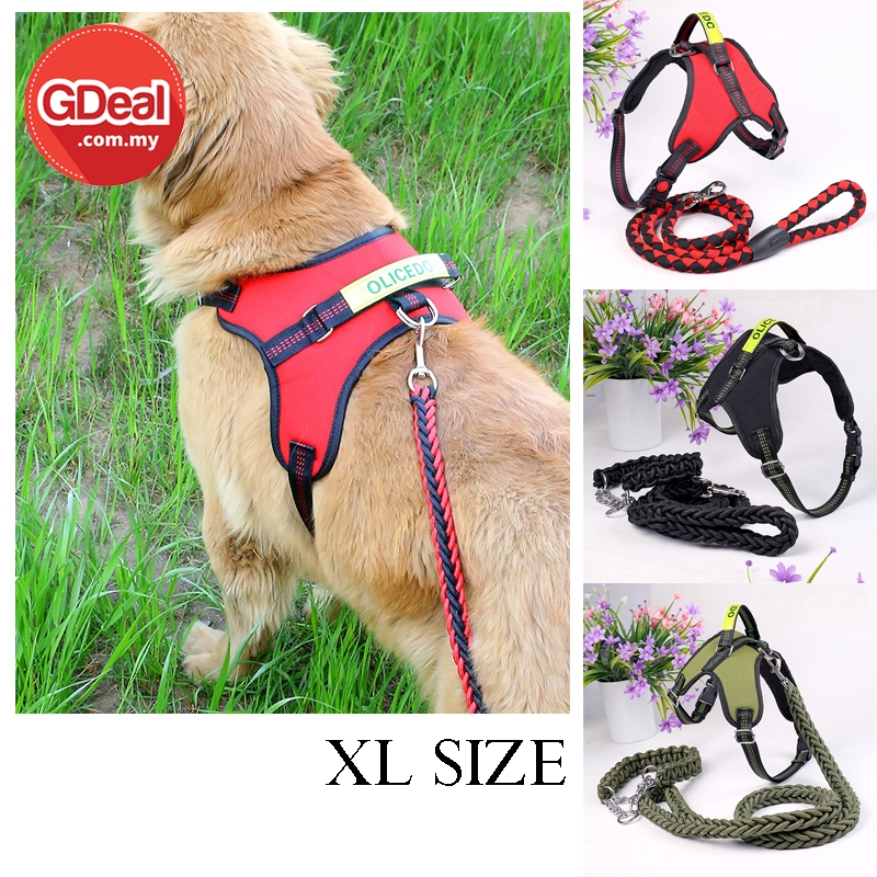 GDeal Comfortable Dog Chest Strap Pet Leash With Traction Rope Collar Tali Anjing (XL size)  تالي انجيڠ
