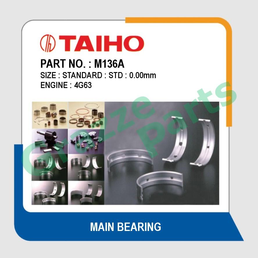 Taiho Main Bearing STD Size M136A for Proton Perdana 4G63 4G68 V31