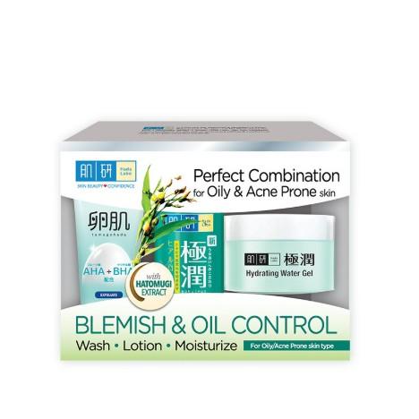 Hada Labo Blemish & Oil Control 123 Set (12g + 30ml + 14g)