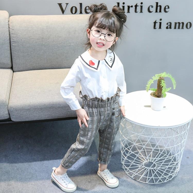 Children Pretty Flower Leggings Kids Trousers Classic Girls Pencil Pants Style D