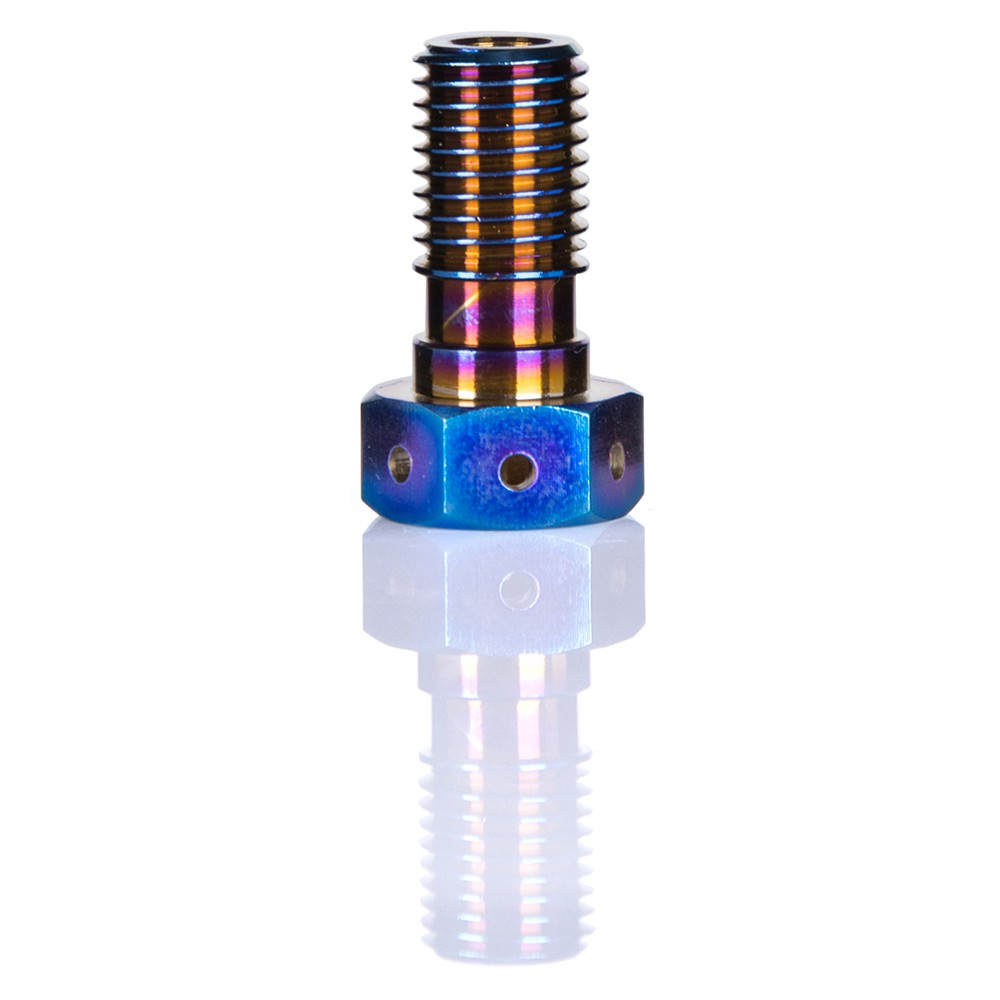 Rockbros M8 Titanium Ti Hex Head Cap Bolts Flange Bolt 1.25mm Pitch 1pcs Blue