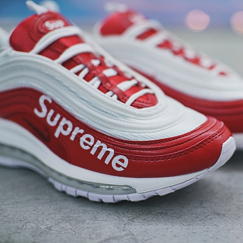 Supreme X Nike Air Max 97 Red White for Men and Women