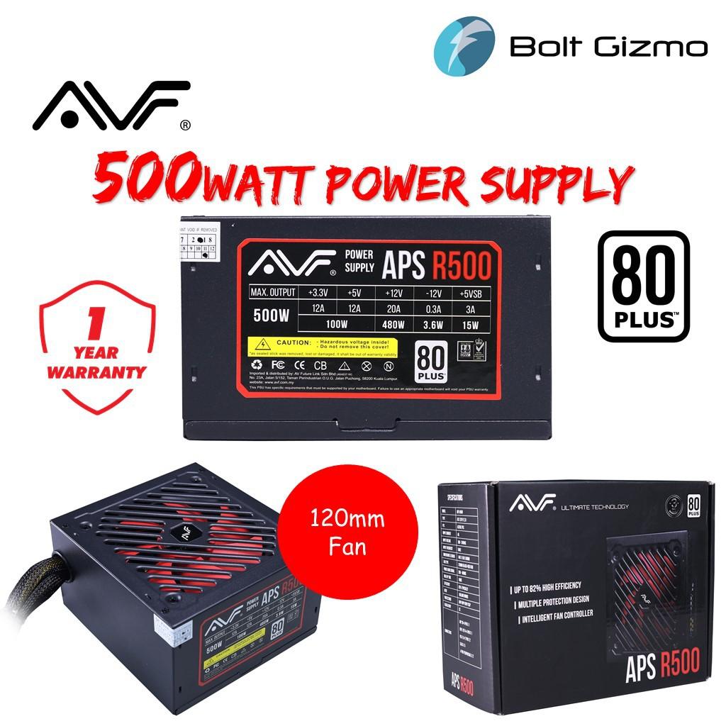 AVF APS R500 (APS-R500) 500W 80Plus White Power Supply Unit