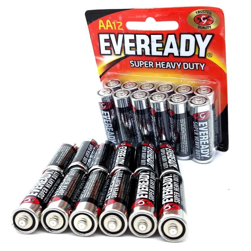Official Eveready Super Heavy Duty R6 1.5v 2/4/6/8/10/12pcs/Pack AA Size Battery