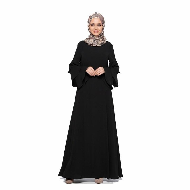 ef7105858fb64 Fashion Muslim dress long sleeve women robe loose skirt Arabic dubai abaya  dress Ready stock Turkish islamic clothing