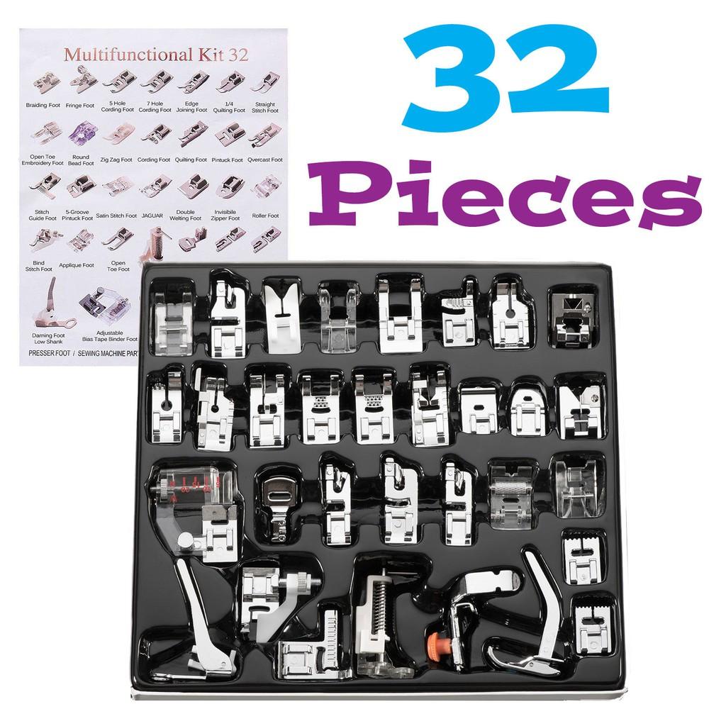 5pcs//Set Open Toe Presser Foot Applique Foot Low Shank Sewing Machines Parts