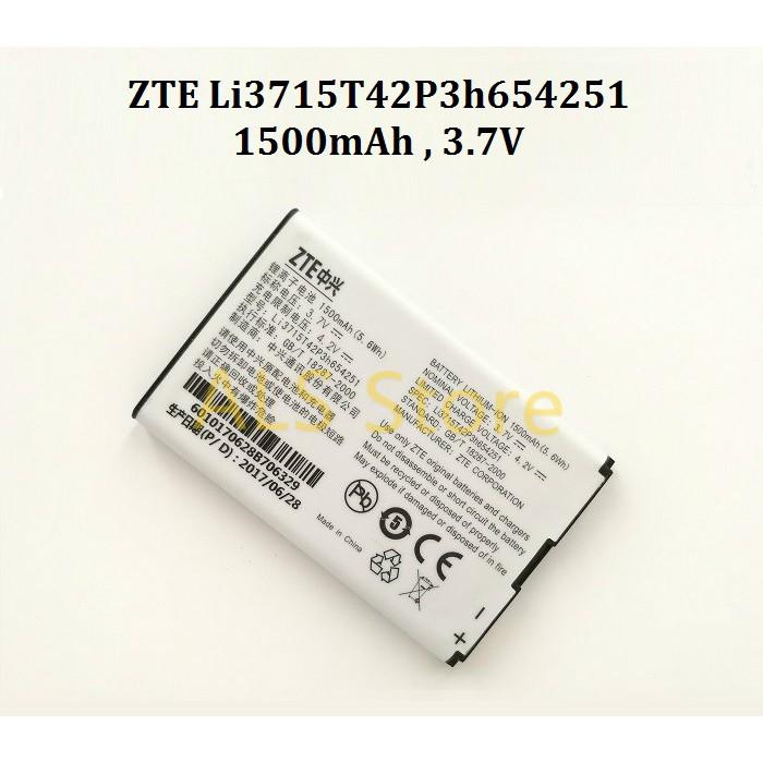 [REPLACEMENT] Battery ZTE MIFI MOBILE HOTSPOT MF60 MF61 MF62 MF65 MF65M -  Li3715T42P3h654251 - 1500mAh