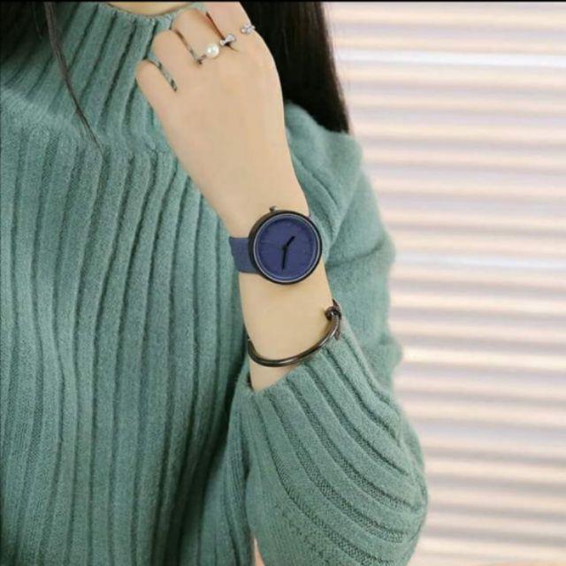 Classic Luxury Fashion Leather Strap  Minimalist Jam Tangan Perempuan Baru 甜美型女生手表